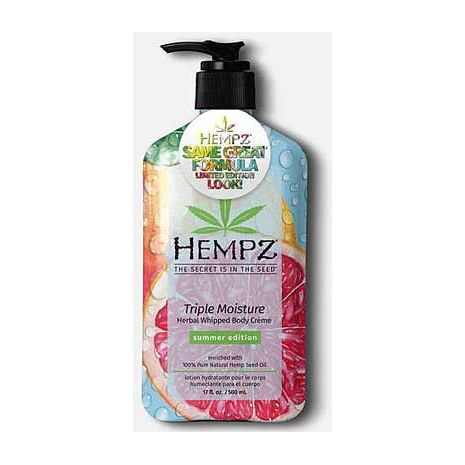 Hempz TRIPPLE WHIPPED HERBAL Creme Moisturizer  - 17.0 oz.