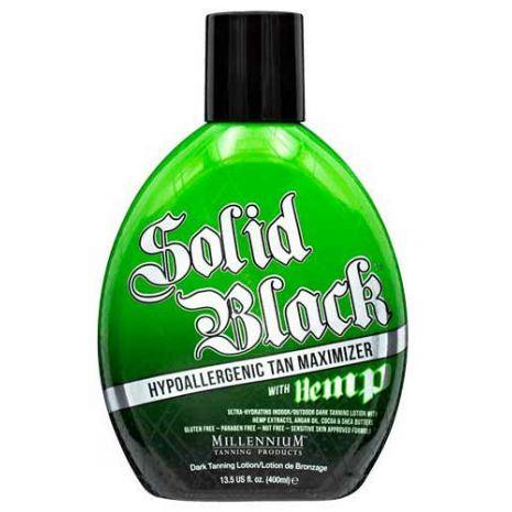 Millennium Tanning SOLID BLACK TAN MAXIMIZER WITH HEMP  - 13.5 oz.